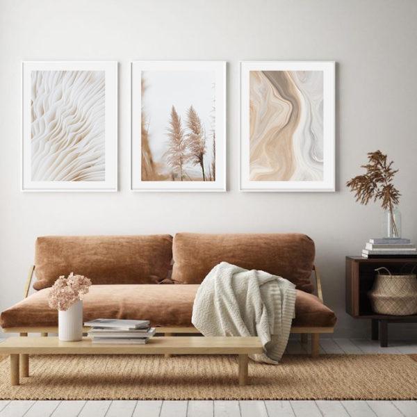 постеры серый и коричневый в комнату