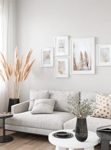 пять постеров в светлую комнату