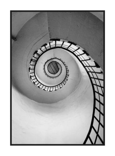 постер на стену белая винтовая лестница из классической коллекции