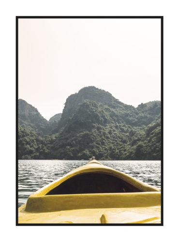 постер с желтой лодкой из природной коллекции