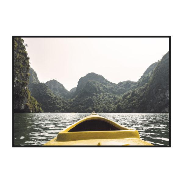 постер фото из лодки