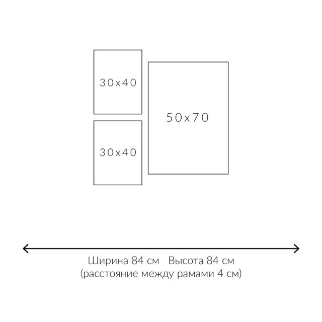 распоожение постеров 3 штуки схема с размерами