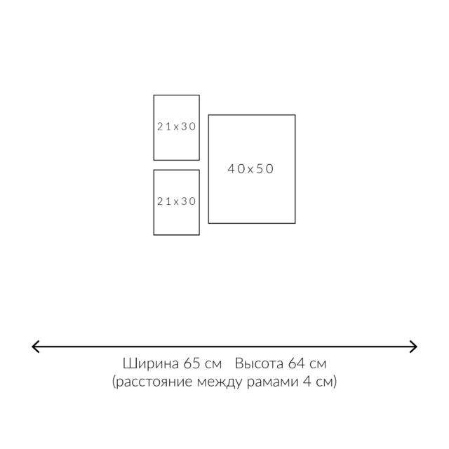 схема размещения постеров 3 рамки