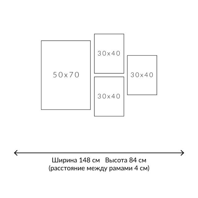 раскладка постеров 4 рамки схема