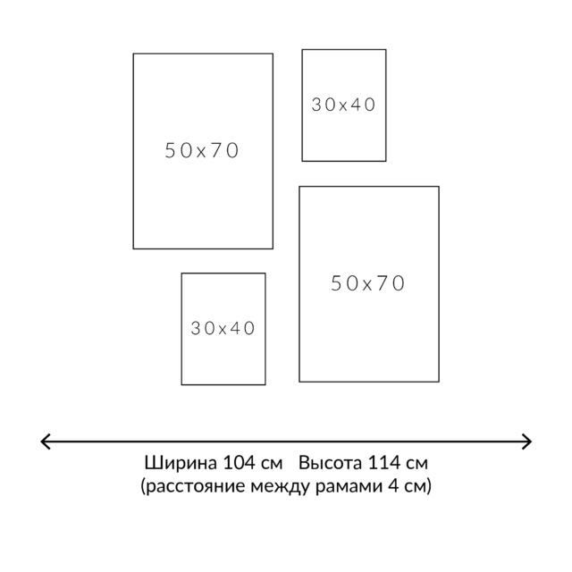 расположение четырех картин схема