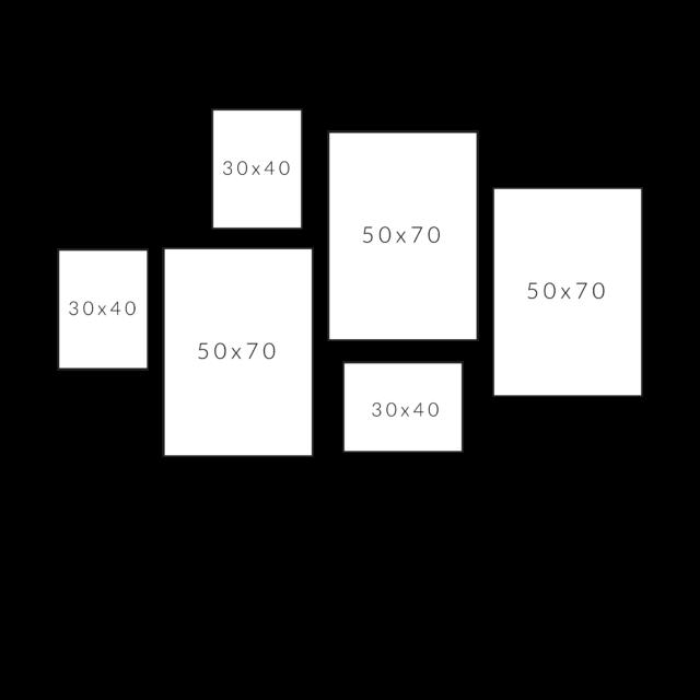 6 рамок картин по горизонтали
