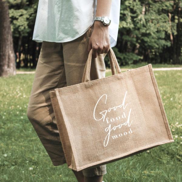 сумка для похода в магазин стильная