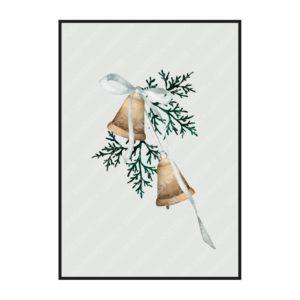 """Постер на стену """"Новогодние колокольчики"""""""