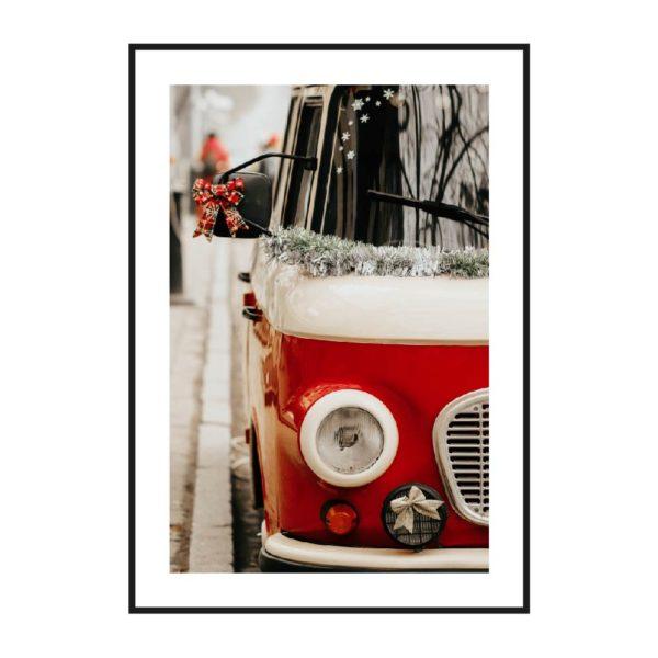 постер фара красный серферский фольксваген