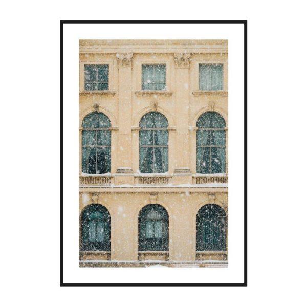постер здание окна готический