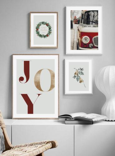 Набор 4 новогодних постера