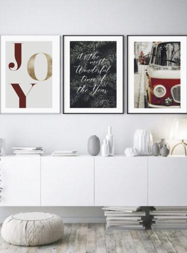 трио постеров Новый год
