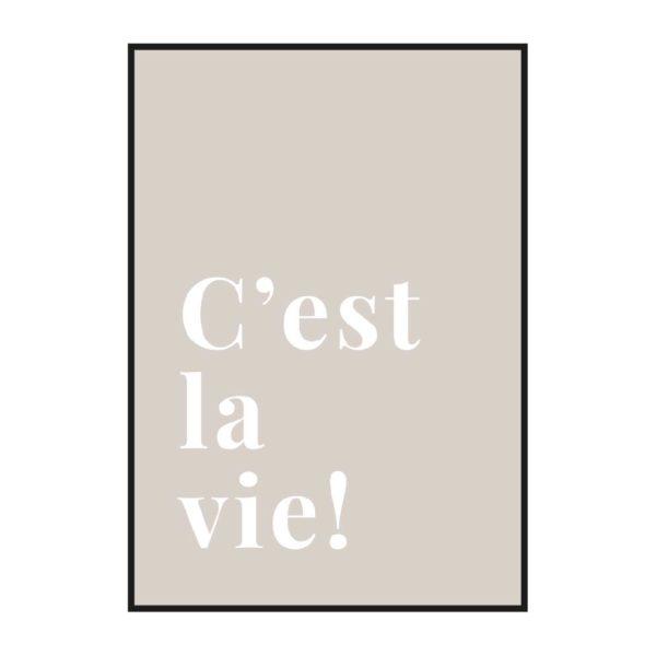 постер с текстом на французском