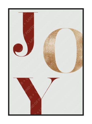постер с текстом JOY из новогодней коллекции