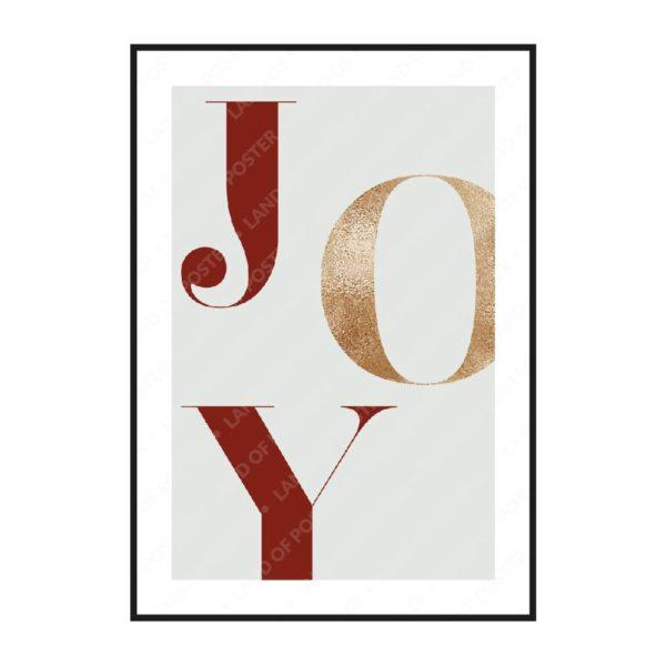 буквы JOY постер