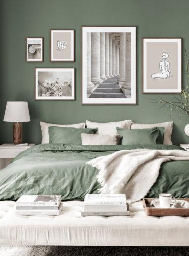 5 классических постеров в серо-зеленых тонах