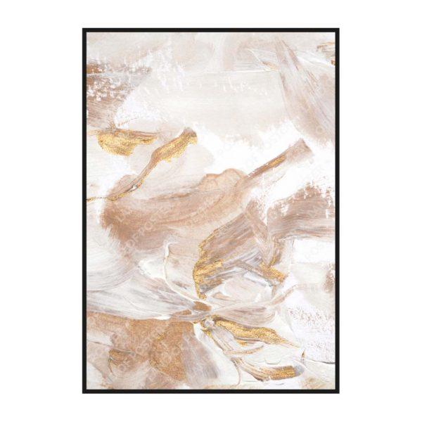 Постер на стену с мазками кистью с золотом