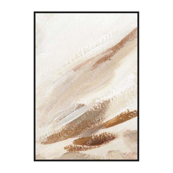 Постер на стену с нейтральными мазками с коричневым