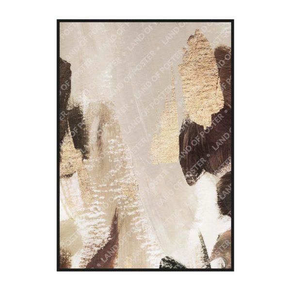 Постер на стену с темно-коричневыми мазками