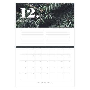 постер календарь на декабрь
