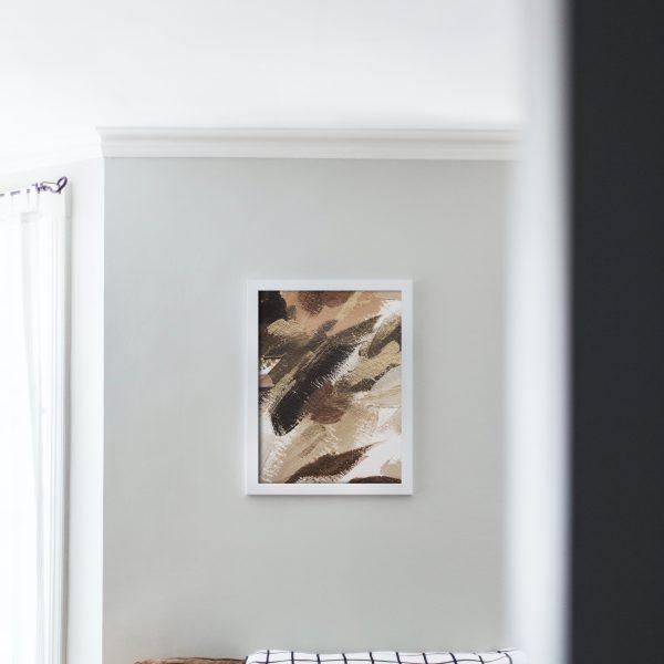 Постер с темными мазками краски