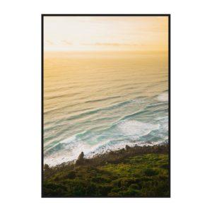 Постер на стену с желтым побережьем