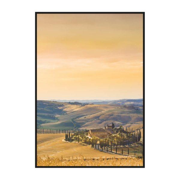 Постер на стену с полями Тосканы