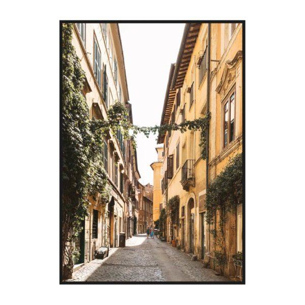 Постер на стену с улицей Рима