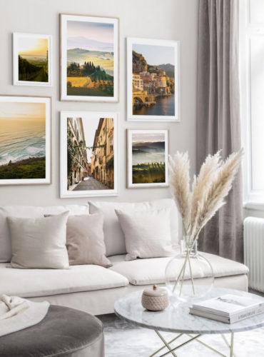 Галерея постеров с улицей и побережьем Италии