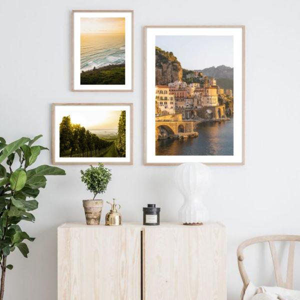Галерея постеров с побережьем Италии