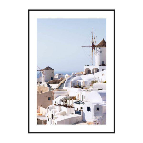 Вид на город Санторини